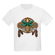 Labradorite Dragonfly Dreamcatcher T-Shirt
