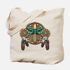Labradorite Dragonfly Dreamcatcher Tote Bag