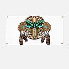 Labradorite Dragonfly Dreamcatcher Banner