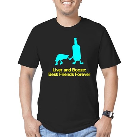 Liver and Booze Men's Fitted T-Shirt (dark)