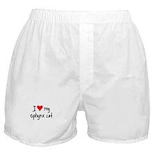 I LOVE MY Sphynx Cat Boxer Shorts