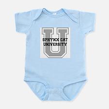 Sphynx Cat UNIVERSITY Infant Bodysuit