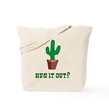 Cactus Hug It Out Tote Bag
