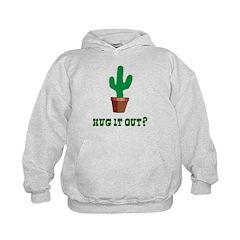 Cactus Hug It Out Kids Hoodie