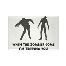 When Zombies Come Trip Rectangle Magnet