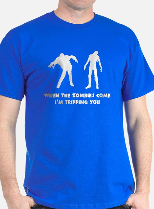 When Zombies Come Trip T-Shirt