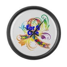 Autism For A Cure Large Wall Clock