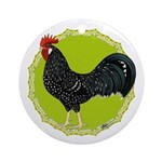 Ancona Rooster Ornament (Round)