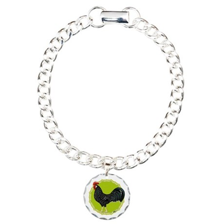 Ancona Rooster Charm Bracelet, One Charm