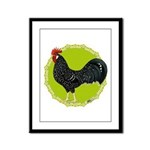 Ancona Rooster Framed Panel Print
