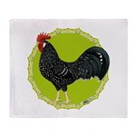 Ancona Rooster Throw Blanket