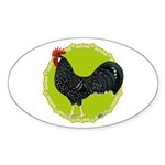 Ancona Rooster Sticker (Oval 10 pk)