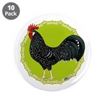 "Ancona Rooster 3.5"" Button (10 pack)"