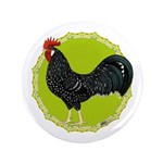 "Ancona Rooster 3.5"" Button"