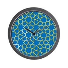 Gold Islamic Art Star Pattern Wall Clock