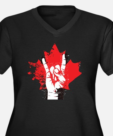 Canada 150 Women's Plus Size V-Neck Dark T-Shirt