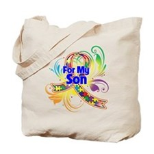 Autism For My Son Tote Bag