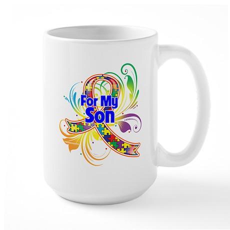 Autism For My Son Large Mug