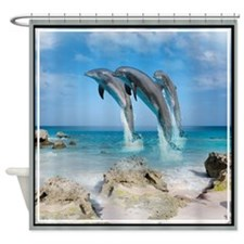 Dolphins In Paradise Shower Curtain