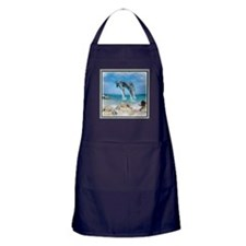 Dolphins In Paradise Apron (dark)