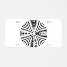 Labyrinth Aluminum License Plate