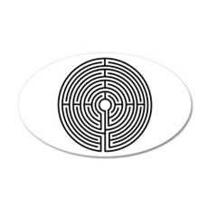 Labyrinth 22x14 Oval Wall Peel