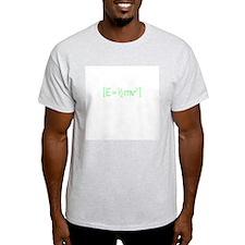 E =1/2mv2 Ash Grey T-Shirt