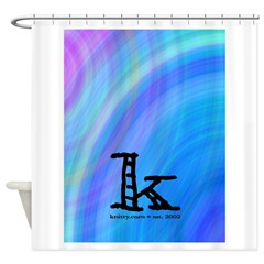 Knittylove [madras] Shower Curtain