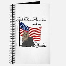 Patriotic Yorkie Journal