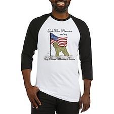 Patriotic Wheaton Terrier Baseball Jersey