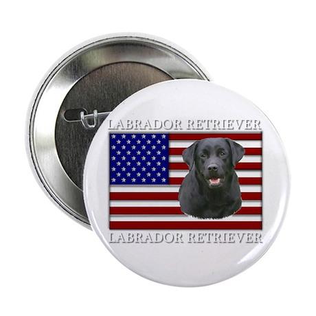 Patriotic Labrador Retriever Button