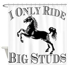 Big Studs - Rearing #1 - Black Shower Curtain
