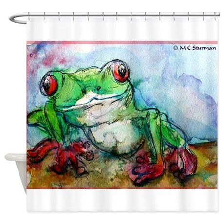 Tree Frog , wildlife, art, Shower Curtain