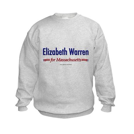 """""""Elizabeth Warren for MA"""" Kids Sweatshirt"""
