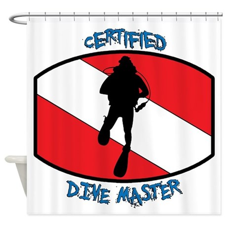 """""""Certified Dive Master"""" Shower Curtain"""