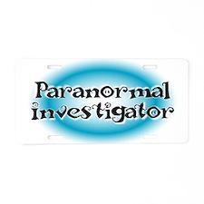 Paranormal Investigator Aluminum License Plate
