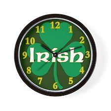 Irish Shamrock Wall Clock