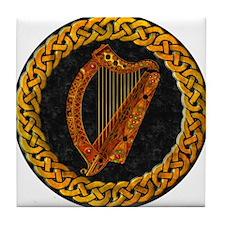 Irish Harp Celtic Tile Coaster