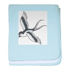 Sparrow Tat baby blanket