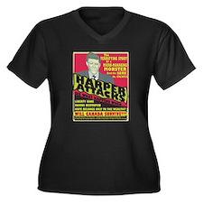 Harper Attacks /Women'sPlusSizeV-Neck Dark T-Shirt