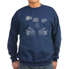 Cute Bunny Love Clouds Sweatshirt