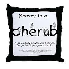 Mommy to a Cherub Throw Pillow