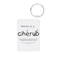 Mommy to a Cherub Keychains