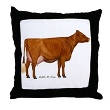 Shorthorn Cow Throw Pillow