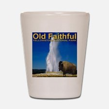 Cool Yellowstone national park Shot Glass