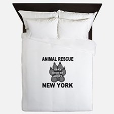 Cute Rescued horses Queen Duvet