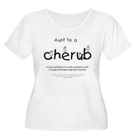 Aunt to a Cherub Women's Plus Size Scoop Neck T-Sh