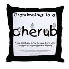 Grandmother to a Cherub Throw Pillow