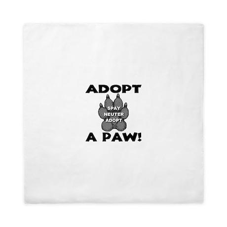 Adopt A Paw: Spay! Neuter! Ad Queen Duvet