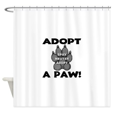Adopt A Paw: Spay! Neuter! Ad Shower Curtain